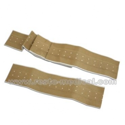 Long adhesive wound plaster
